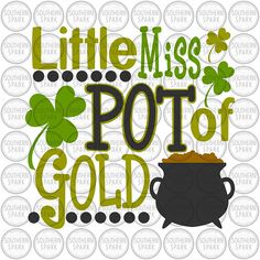 BUY NOW ON ETSY Little Miss Pot Of Gold svg png eps pdf jpg dxf