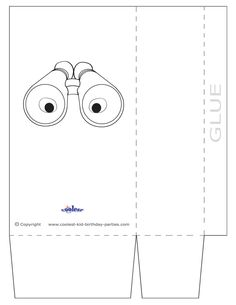 Free Scavenger Hunt Ideas and Printables - Large Printable Binoculars Favorbag