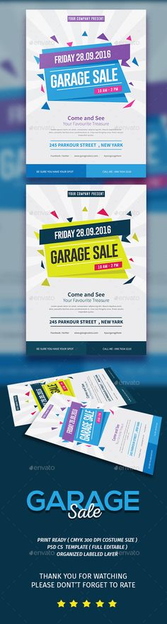 Garage Sale Flyer Template PSD, Vector AI. Download here: http://graphicriver.net/item/garage-sale-flyer/15773951?ref=ksioks