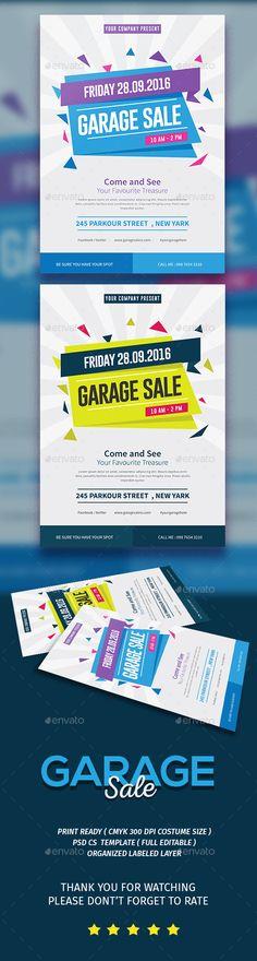 Garage Sale Flyer Template PSD, Vector AI. Download here: http://graphicriver.net/item/garage-sale-flyer/15773951?ref=ksioks