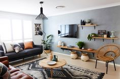 Create A Soft Industrial Look In Your Home   Concrete Effect Wall   Better  Homes And