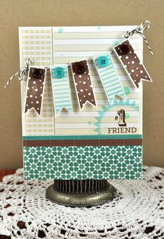 Love the color combo and banner! Great card to use for a birthday