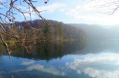 El lago del parque natural de Plitvice