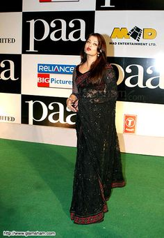 Black Madhuri Dixit Saree, Sabyasachi Sarees, India Fashion, Ethnic Fashion, Celebrity Wallpapers, Aishwarya Rai Bachchan, Black Saree, Beautiful Saree, Bollywood Fashion