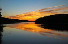 Summer night at lake Suonojärvi