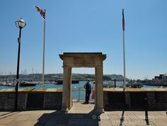 Mayflower Steps, at the entrance to Sutton Harbour, Plymouth, England. Where America started.