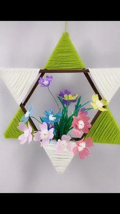 Diy Room Decor Videos, Diy Crafts For Home Decor, Diy Crafts Hacks, Diy Crafts For Gifts, Diy Arts And Crafts, Diy Crafts Videos, Craft Stick Crafts, Paper Crafts, Paper Flower Tutorial