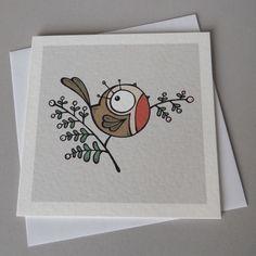 fat robin christmas card