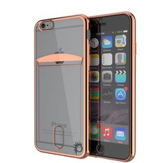 iPhone 6s/6 Case, PUNKCASE® LUCID Rose Gold Series for iPhone 6s/6 Premium Impact Protective Armor Case Cover | Clear TPU | Lifetime Warranty Exchange | PUNK SHIELD Screen Protector | Ultra Fit PRECISELY CUT: With the case cut so precisely, the iPhone 6s/6 headphone and microphone jacks will be just as accessible. You'll only have to carry what you need, making international travels a breeze. 4 COLORS TO CHOOSE FROM: Gold, Silver, Black & Rose Gold. Perfect for any suit of action. CARD SLOT…