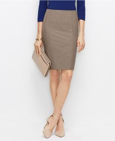 82ad182d261ff0 Primary Image of Petite All-Season Stretch Pencil Skirt Corporate Wear,  Stretch Pencil Skirt