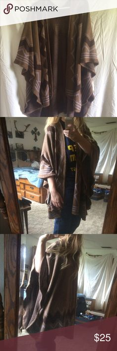 NWT Poncho NWT! Bought this because I though I was the poncho wearing type, but I'm not! So beautiful! Sweaters Shrugs & Ponchos