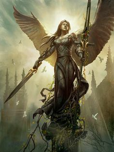odin's army of valkyrie sketch Fantasy Art Angels, Dark Fantasy Art, Fantasy Girl, Fantasy Artwork, Angel Warrior, Fantasy Warrior, Fantasy Character Design, Character Art, Angel Artwork