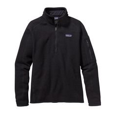 The Patagonia Women's Better Sweater® Quarter Zip fleece thrives as urban outerwear or layered in the backcountry under a shell. Check it out.