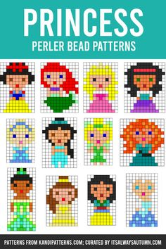 The GIANT list of Perler Bead Patterns {fuse beads, melty beads} - It's Always Autumn Easy Perler Bead Patterns, Melty Bead Patterns, Diy Perler Beads, Perler Bead Art, Beading Patterns, Disney Hama Beads Pattern, Hama Beads Coasters, Melty Bead Designs, Art Patterns