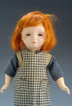 Francisque Poulbot street child doll made of composition and bisque, S.F.B.J., France, 1913.