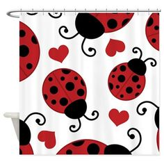 LADYBUGS wall stickers MANY decals decor hearts circles dots bugs nature nursery