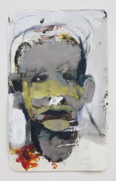 Anonym, acrylic on paper, 21x13cm, 2014 by Bartosz Beda