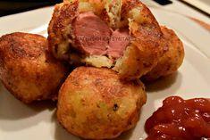 Πεντανόστιμες Πατατοτυροκροκέτες σκέτες ή με λουκάνικο!!! Baked Potato, Cauliflower, Food And Drink, Potatoes, Baking, Vegetables, Ethnic Recipes, Sausages, Food Ideas