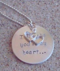 """Baby Memorial Necklace """"I'll hold you in my heart...Until I hold you in Heaven"""" :)"""