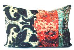 patterns poetic wanderlust - voyage pillow; handmade in california by poetic wanderlust, tracy porter