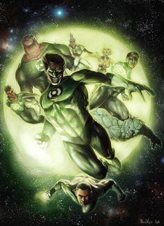 Green Lantern Corps, by Jon Bosco.