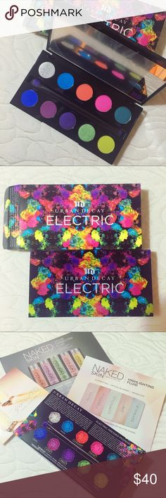 Electric Eyeshadow Palette by Urban Decay Amazing pallets for the boldest and funnest looks you might think of! It's brand new, never even swatched. Sold out everywhere. Comes with couple little extras. Urban Decay Makeup Eyeshadow