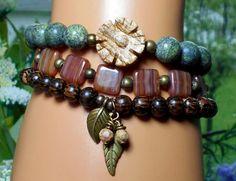 Rustic Chic Bohemian Bracelet, this one has it all! – BlueStoneRiver