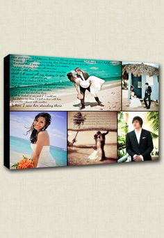 cute wedding picture canvas