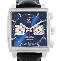Tag Heuer Monaco Calibre 12 Blue Dial Chronograph Mens Watch CAW2111