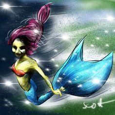Mermaid for MerMay day #10 . #mermay #mermaid #mermaids #mermaidlife #love #blue #mermay2017 #instacool #hairstyle #beautifulgirl #instagood #hairstyles #mermaidhair #instahair #goodvibes #glitter #instafashion #instaart #saltlife #beachlife #oceanside #motd #eyelook #bathingsuit #oceanlife #drawingoftheday #ReelMermaids #purplehair hattip @tombancroft1