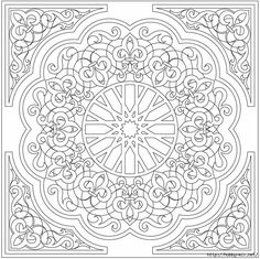 Embroidery Patterns Mandala Dover Publications 39 Ideas For 2019 Mandalas Drawing, Mandala Coloring Pages, Coloring Book Pages, Zentangles, Printable Coloring Pages, Coloring Sheets, Arabic Pattern, Pattern Art, Dover Publications