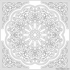 Раскраска арабески