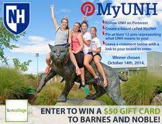 #MyUNH Pinterest Contest