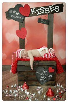 Valentine's Photography Prop Set. Newborn by TrebleStitchBoutique