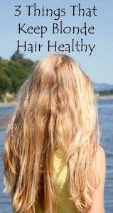 3 things that keep blonde hair healthy.