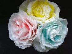 http://www.etsy.com/shop/mehartgallery brings you this easy tutorial for making elegant paper roses from coffee filters.  Easy process!!    http://www.etsy.com/shop/Hectanooga (crochet, knitting, flowers patterns)  http://www.facebook.com/3CrochetChicks (patterns)  http://www.etsy.com/shop/mehartgallery (jewelry, fabric flowers, wedding accessor...