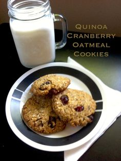 Quinoa Cranberry Oatmeal Cookies! Egg free! Dairy free! Gluten free!
