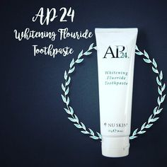 AP-24 WHITENING FLOURIDE TOOTHPASTE  Whitens teeth while fighting plaque with AP-24 propriety technology. Removes stains while whitening, brightening and polishing teeth for a radiant smile. Provides a long lasting fresh, clean mouth while aiding in prevention of dental cavities.    #whiteningtoothpaste   #preventcavities   #noharshingredients   #allnatural   #nuskinph