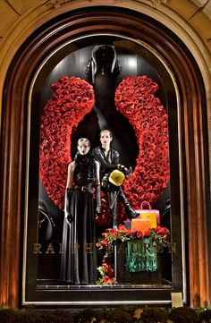 Ralph Lauren holiday windows, St. Germain store
