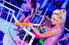 UV Splash Blacklight Paint Party!!! Soo coool!