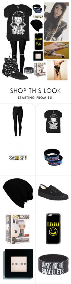 """Johnnie Guilbert"" by islandformisfits ❤ liked on Polyvore featuring Vans, Funko, Casetify, Bobbi Brown Cosmetics, MDE, johnnieguilbert and Mydigitalescape"