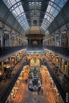 The Queen Victoria Building (or QVB), is a late nineteenth-century building designed by the architect George McRae in the central business district of Sydney, Australia. The Romanesque Revival building was constructed between 1893 and 1898 and is 30 m (98 ft) wide by 190 m (620 ft) long.