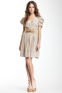Ruched Short Sleeve Dress