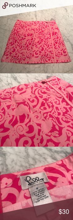 """Lily Pulitzer Skort Size 8!! Like New. Excellent condition. 97% cotton, 3% spandex. Waist 15"""", Length 15"""" Lilly Pulitzer Skirts"""
