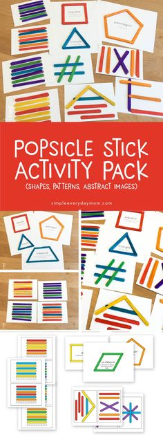 popsicle stick busy bag | ideas for toddlers | indoor play