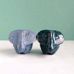 ceramic sculpture little elephant modern art ceramic figurines