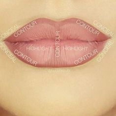 To make your lips look ABAP (as big as possible), try this simple contour map. | 7 Ridiculously Easy Makeup Ideas That Will Simplify Your Life