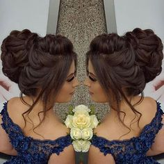 Gorgeous Wedding Hairstyles Half up Half down – Chignon – Makeup, Nails and Beauty – Grandcrafter – DIY Christmas Ideas ♥ Homes Decoration Ideas Quince Hairstyles, Bride Hairstyles, Bridal Hair And Makeup, Hair Makeup, Hair Up Styles, Wedding Hairstyles Half Up Half Down, Prom Hair Updo, Quinceanera Hairstyles, Elegant Wedding Hair