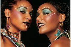 Beautiful. African inspired makeup & accessories.