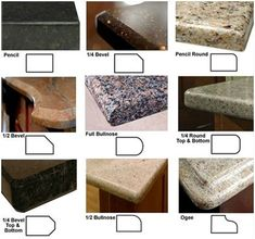 countertop edge choices - Google Search